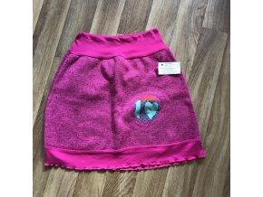 Dámská sukně zimní s aplikací S/M - růžová, Petra Kalistia Lammas