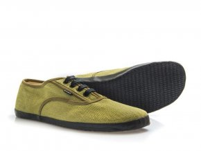 Konopné barefoot tenisky KOLDA Plimsole Olive-Black, Bohempia
