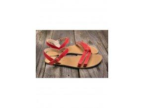 Barefoot sandále Lenka Summer - Red, Be Lenka