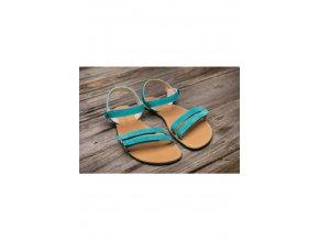 Barefoot sandále Lenka Summer - Tyrkys, Be Lenka