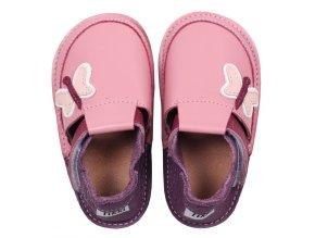 Kožené barefoot boty Butterflies - podrážka 3 mm, Tikki shoes