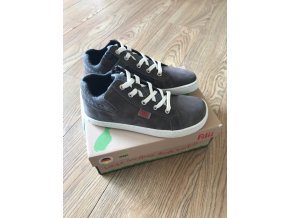 SKATER ONE laces velours grey M, Filii barefoot