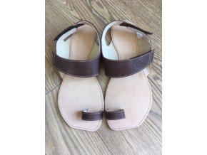 Barefoot sandále Orto+ DIONE - tmavě hnědá