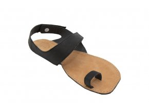 Barefoot sandále Orto+ DIONE - černá