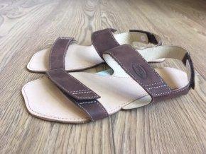 Barefoot sandále Orto+ BORA - hnědá