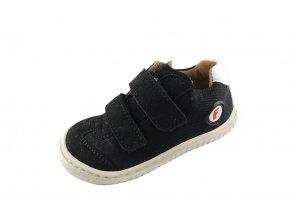 LEGUAN vegan velcro textile black, Filii barefoot