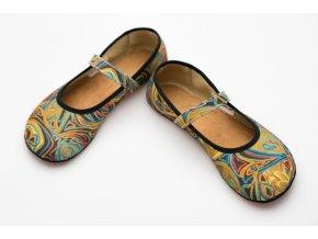 Ananda - duhová balerínka (úzká), Ahinsa shoes