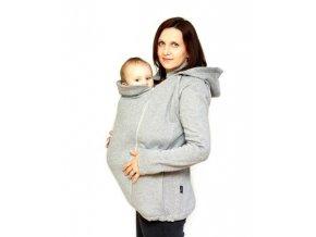 Nosící mikina s odepínacími rukávy - šedá, Adelay XL