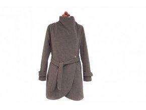 Vlněný kabát - hnědý, Angel wings