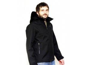 Pánská softshellová nosící bunda - černá, Adelay M