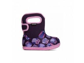 Zimní boty Baby Bogs classic Owls - Purple multi, Bogs