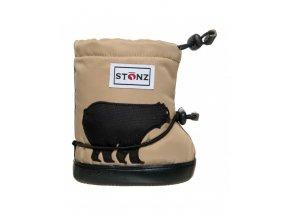 STONZ BOOTIES TODDLER - Black Bear Taupe, STONZ