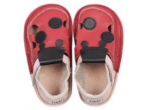 Sandálky Red ladybug - podrážka 2 mm, Tikki shoes
