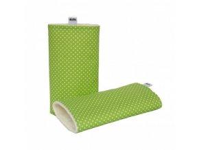 Chrániče ramenních popruhů - Zelený puntík, Kibi