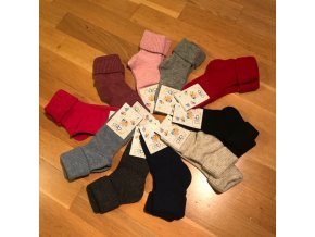 Dětské vlněné ponožky - velikost 7 (29-31), Diba