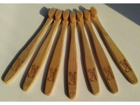 Dětský bambusový kartáček - CURANATURA JUNIOR (extra soft), Curanatura