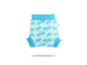 Vlněné svrchní kalhotky - Tyrkysová autíčka, Petit Lulu