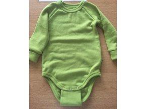 Body dlouhý rukáv - merino zelené, Duomamas
