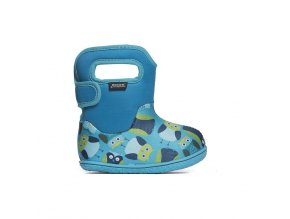 Zimní boty Baby Bogs classic Owls - Blue multi, Bogs