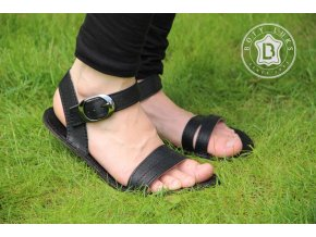 Barefoot sandály - černé, BotyLuks