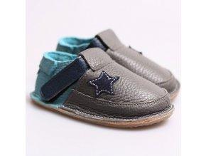 Kožené barefoot boty Smoke - podrážka 3 mm, Tikki shoes