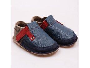 Kožené barefoot boty Deep Blue - podrážka 3 mm, Tikki shoes