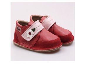 Kožené barefoot boty Red Velvet - podrážka 4 mm, Tikki shoes