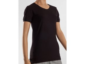Bambusové tričko s krátkým rukávem - černé, Duomamas