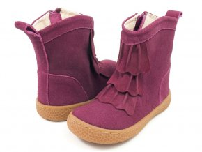 Pepper - Mulberry Suede Leather, Livie and Luca