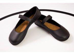 Balerínka (černá s černou podšívkou), Ahinsa shoes