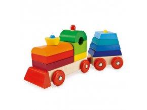 Tuff Tuff - skládací vlak (pyramida), Selecta Spielzeug