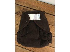 Svrchní kalhotky flísové - suchý zip - hnědé, KatyvBaby