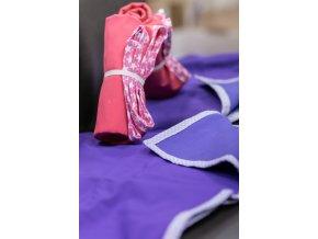 Přebalovací podložka malá 50x70 cm - fialová, Katka Černá