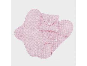 Biobavlněné slipové vložky Slim - růžová (sada 3 ks), Imse Vimse