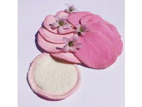 """Odličovací tamponky z bio beránka """"růžové"""" 10 ks, Nice Belly"""
