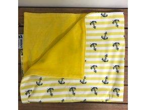 Přebalovací podložka Citron/kotvy (bavlněný velur) PUL, Anavy