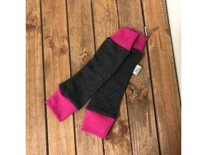Merino návleky do šátků a nosítek - grafitová/růžová, Crawler