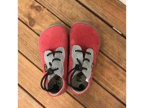 Celoroční boty - červená (rychloupínací systém), Fare bare