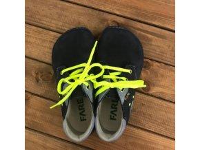 barefoot nizke celorocni boty modra tkanicka fare bare