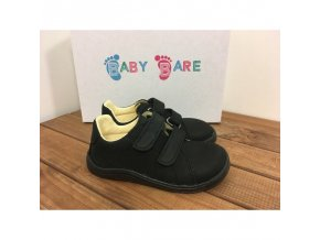 baby bare shoes febo spring black nubuk