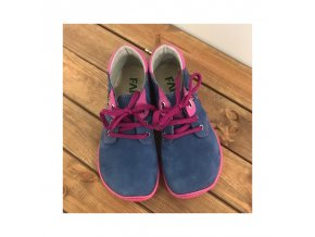 barefoot nizke celorocni boty modra s ruzovou podrazkou tkanicka fare bare 5