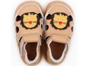 sandalky cream lion podrazka 2 mm tikki shoes