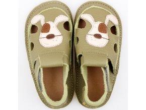 sandalky green doggy podrazka 2 mm tikki shoes