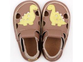 sandalky dino brown podrazka 2 mm tikki shoes