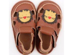 sandalky brown lion podrazka 2 mm tikki shoes