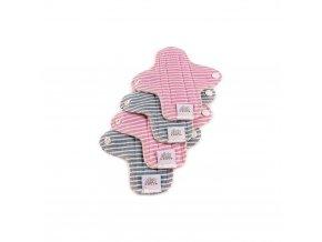 Menstruační slipové vložky - Moon pads mini - proužky 4 ks, Ella´s house