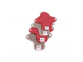 Menstruační slipové vložky - Moon pads mini - puntíky 4 ks, Ella´s house