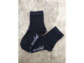 bambusove ponozky bobik cerna trepon