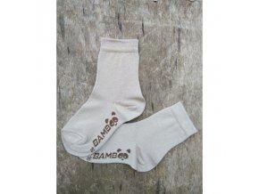 bambusove ponozky bobik bezova trepon