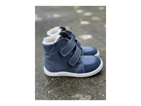Baby Bare Shoes - Febo Winter Navy Asfaltico